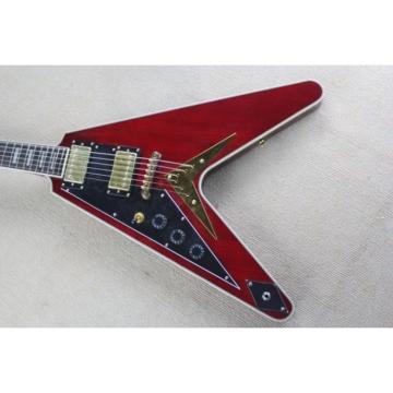 Custom Shop Left Handed Red  LP Flying V Electric Guitar