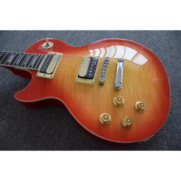Custom Shop Left Handed Cherry Burst Flame Maple Top Electric Guitar