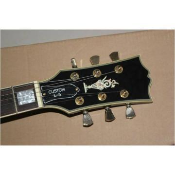 Custom Shop L5 Fhole CES Sunburst Black Electric Guitar