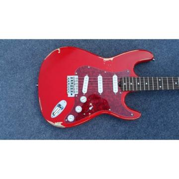 Custom Shop Jimmie Vaughan Relic Red Vintage Old Aged Electric Guitar