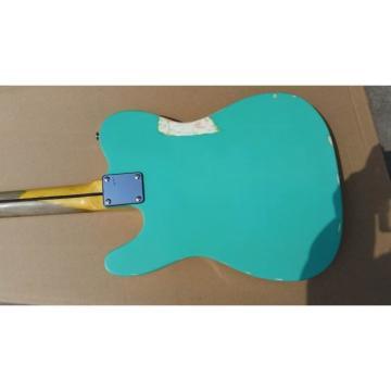 Custom Shop Jeff Beck Relic Teal Vintage Old Aged Telecaster Electric Guitar