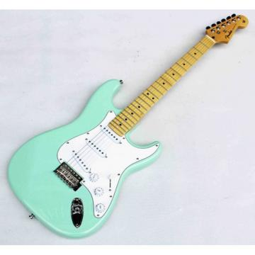 Custom Shop Jeff Beck Fender Green Cyan Single Wammy Bar Electric Guitar