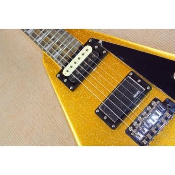Custom Shop Jackson Flying V Gold Dust Electric Guitar