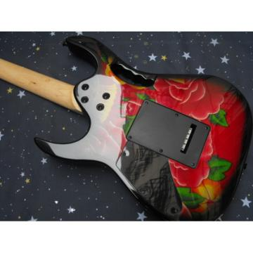 Custom Shop Ibanez Red Flower Electric Guitar