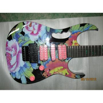 Custom Shop Ibanez Jem 7 Vai Flower Electric Guitar
