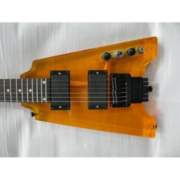 Custom Shop Headless Sunburst Acrylic Electric Guitar