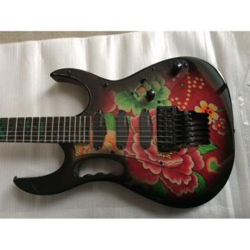 Custom Shop Ibanez Flower EMG Pickups Electric Guitar