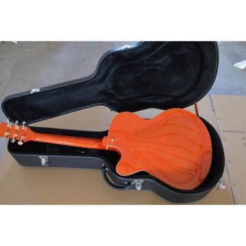 Custom Shop Hofner Fhole Orange Electric Guitar