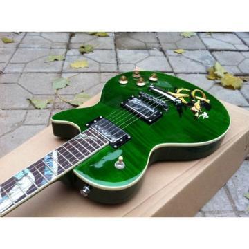 Custom Shop Green Abalone Snakepit Slash  Inlay Fretboard Electric Guitar