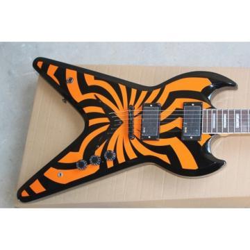 Custom Shop Flying V SGV LP Zakk Wylde Orange Electric Guitar