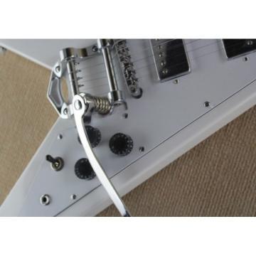 Custom Shop Flying V Electric Guitar Bigsby Tremolo Dot Inlays