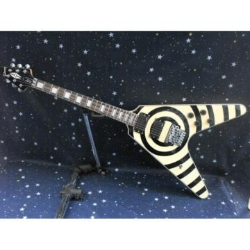 Custom Shop Flying V Zakk Wylde Vintage White Electric Guitar