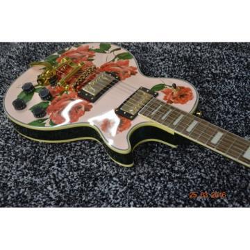 Custom Shop Flower Design Bigsby Tremolo Electric Guitar