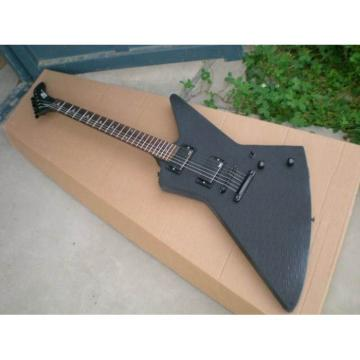 Custom Shop Explorer ESP Korina Matte Black Electric Guitar MX250