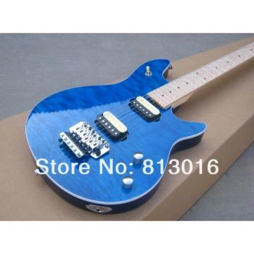 Custom Shop EVH Peavey Electric Guitar Blue Quilt Flame