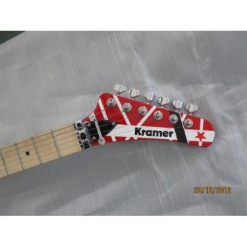 Custom Shop EVH Kramer Red Red White Stripe Electric Guitar