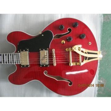 Custom Shop ES355 Curly Red LP Trini Lopez Electric Guitar