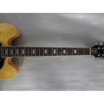 Custom Shop ES335 Yellow Electric Guitar