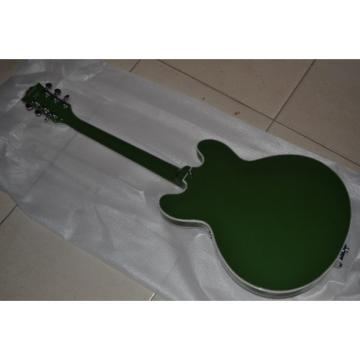 Custom Shop ES335 Curly Green 6 String Bigsby Electric Guitar