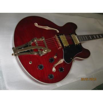 Custom Shop ES335 Curly Dark Red LP Electric Guitar