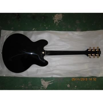 Custom Shop ES335 Black LP Electric Guitar