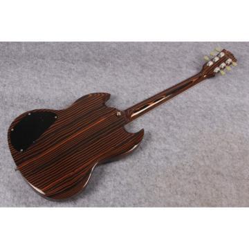 Custom Shop Elliot Easton SG Zebra Wood Electric Guitar