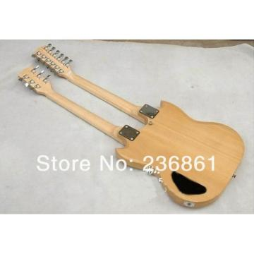 Custom Shop EDS 1275 SG Double Neck Natural Electric Guitar