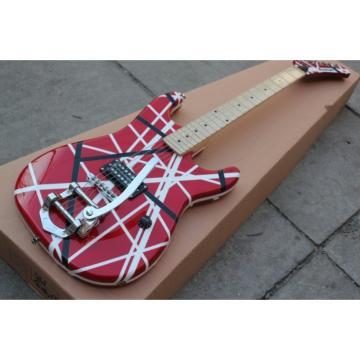 Custom Shop EVH Bigsby 5150 Black White Stripes Kramer Electric Guitar