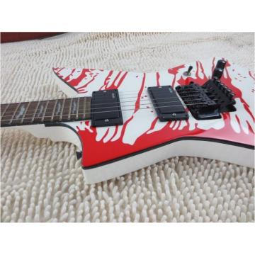 Custom Shop Dan Jacobs LTD ESP Blood Spatter Electric Guitar Authorized EMG Pickups
