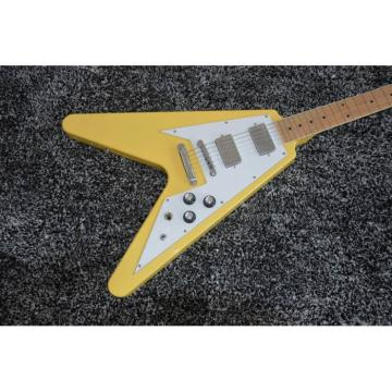Custom Shop Cream Vintage Yellow LP Flying V Electric Guitar