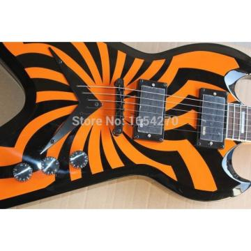 Custom Shop Buzzsaw LP Zakk Wylde Orange SGV Electric Guitar