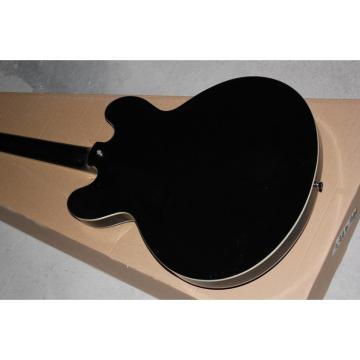 Custom Shop Black Tom Delonge ES-333 White Stripe Electric Guitar