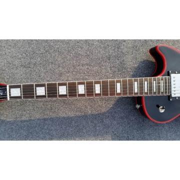 Custom Shop Black Red Tiger Maple Top Electric Guitar Widow Burst