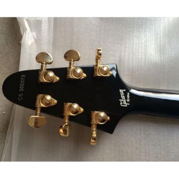 Custom Shop Black Gold Hardware LP Flying V Electric Guitar