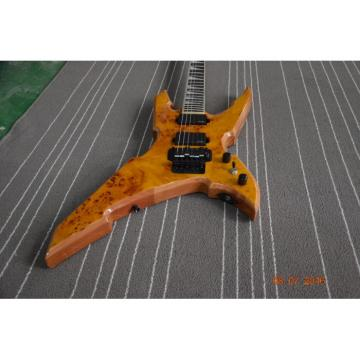 Custom Shop Avenge BC Rich Yellow Birdseye 6 String Electric Guitar