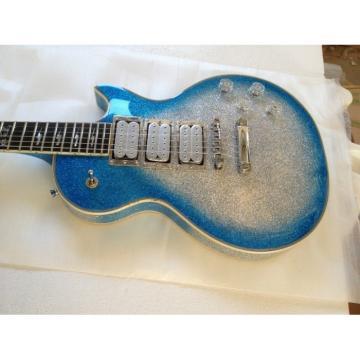Custom Shop Ace Frehley Robot Silver Dust Blue LP Electric Guitar