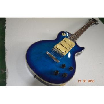 Custom Shop Ace Frehley Blue LP Quilted Maple Top Electric Guitar
