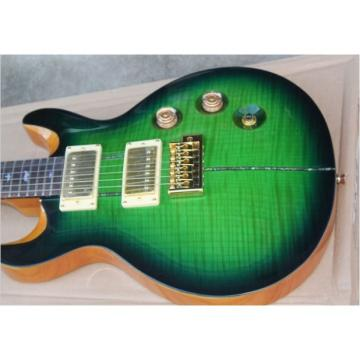 Custom Shop 24 Frets Green Burst Maple Top PRS 6 String Electric Guitar