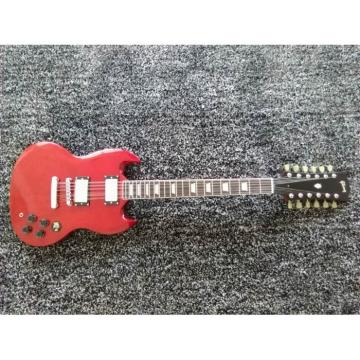 Custom Shop 12 String SG Angus Young Red Electric Guitar