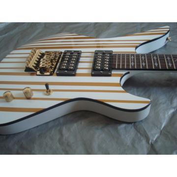 Custom Schecter White Gold Electric Guitar