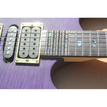 Custom Purple Ibanez Egen Herman Li Model Electric Guitar