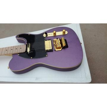 Custom Purple Fender Telecaster Floyd Rose Tremolo Electric Guitar