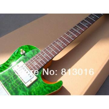 Custom PRS Santana Green Electric Guitar