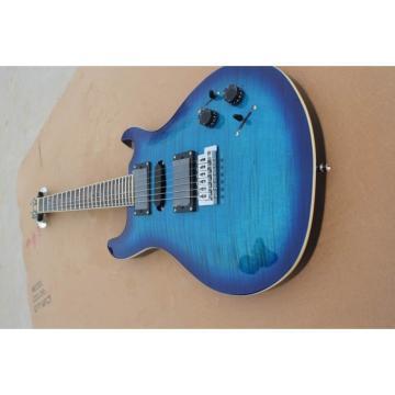 Custom PRS Santana Artic Blue Flame Maple Top Electric Guitar