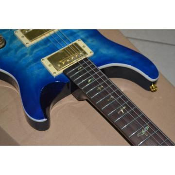 Custom PRS Paul Reed Smith 24 Blue Burst Electric Guitar