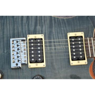 Custom PRS Gray Flame Maple Top Electric Guitar