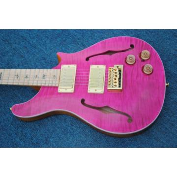 Custom Paul Reed Smith Pink Tiger Maple Top Fhole 6 String Electric Guitar