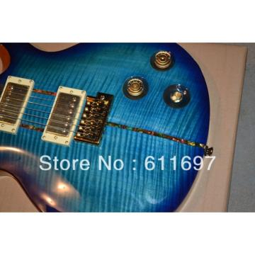 Custom PRS 24 Frets Blue Flame Maple Electric Guitar