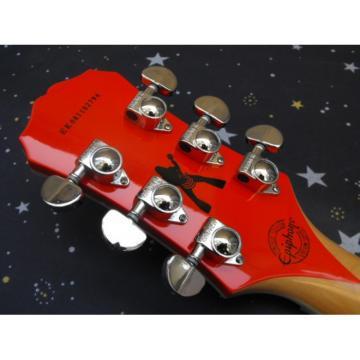 Custom Orange Epi Buzzsaw Zakk Wylde Bullseyes Electric Guitar