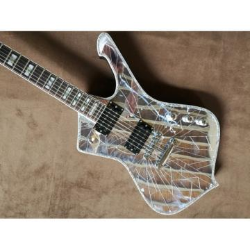 Custom Mirror Crystal Iceman Ibanez Electric Guitar Paul Stanley Wilkinson Parts
